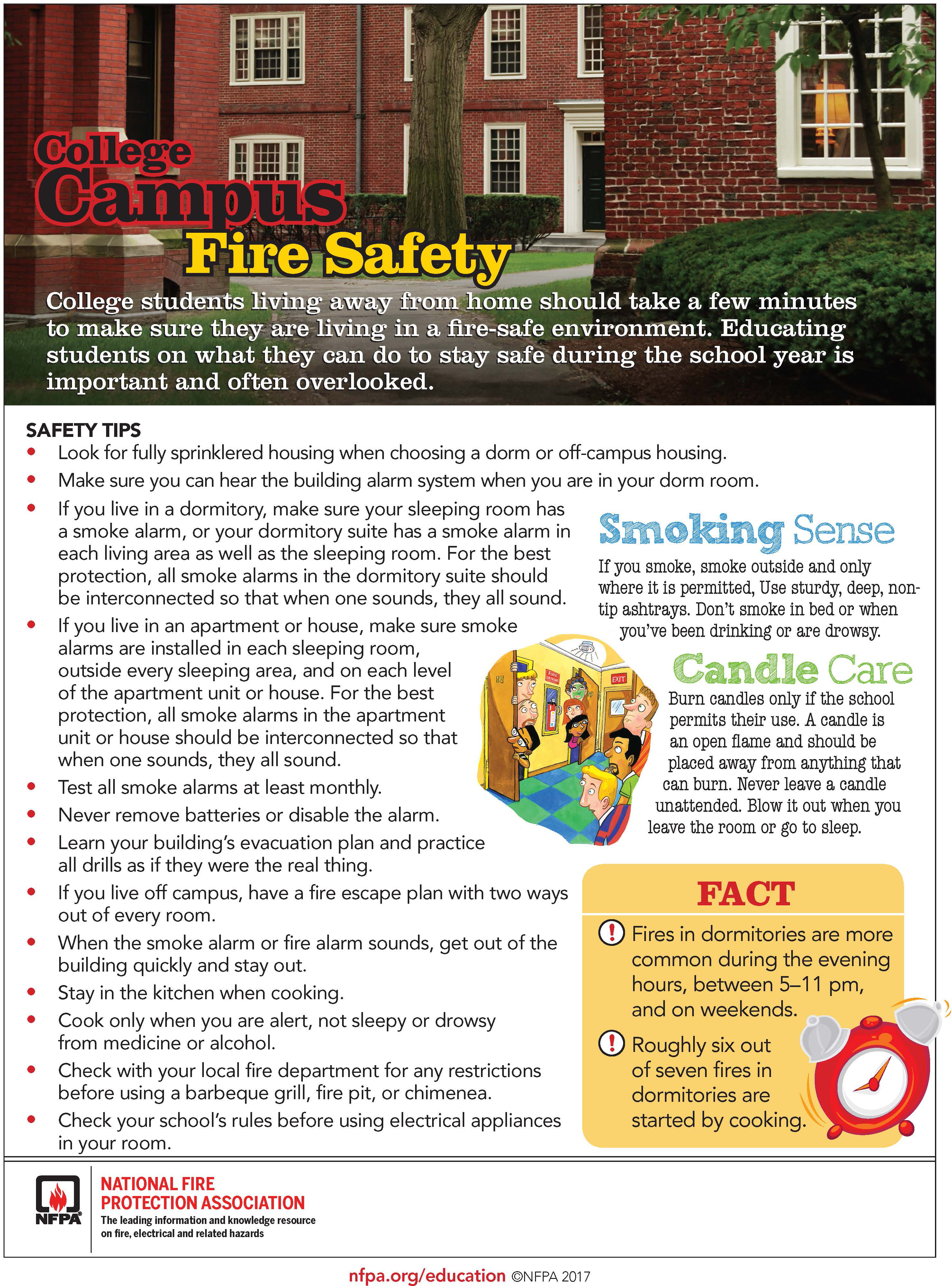 College Campus Fire Safety Tips